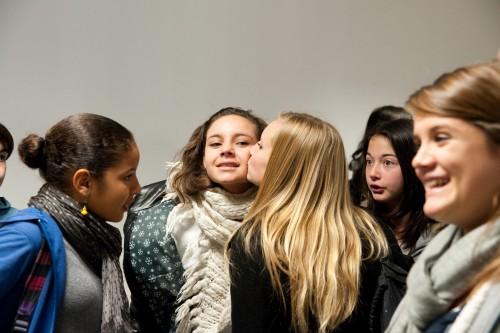 Une Classe de 4eme à la pause de 10h au collège / Lycée du Diois