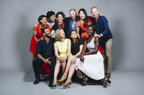 Portraits de collaborateurs de Clarins.