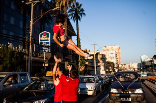 Spectacle acrobatique de rue