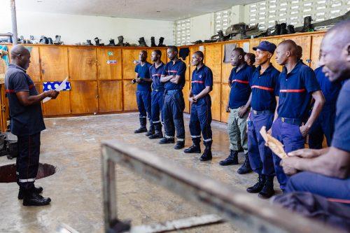La caserne centrale des pompiers de Port-Au-prince