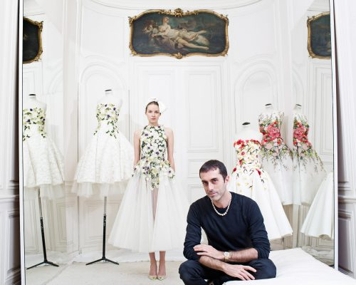Giambattisa Valli, fashion designer, in his showroom in Paris