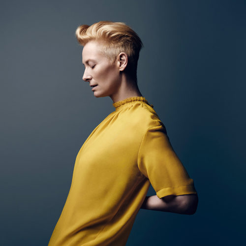 Tilda Swinton, British actress, performance artist, model, and fashion muse.